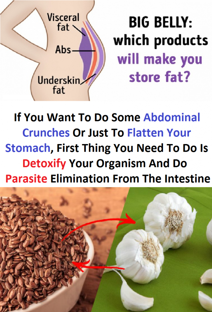 If You Want To Do Some Abdominal Crunches Or Just To Flatten Your Stomach, First Thing You Need To Do Is Detoxify Your Organism And Do Parasite Elimination From The Intestine